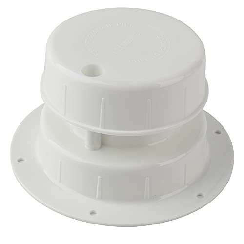 RV Plumbing Vent Caps Sewer Vent Cap Plastic Roof Cover for RV Trailer Motorhome Camper 1 to 2 3 8 Inch Pipe Replacement RV Roof Vent Cover Caps Kit - White
