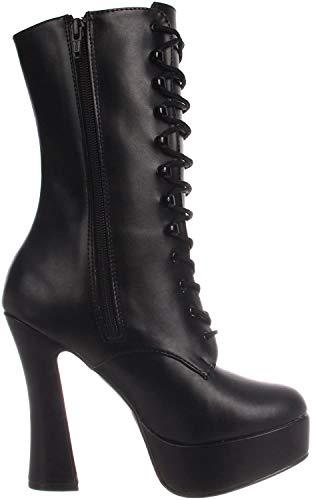 Pleaser ELECTRA-1020, Damen Halbschaft Stiefel, Schwarz (Schwarz (Blk Faux Leather)), 43 EU (10 Damen UK)