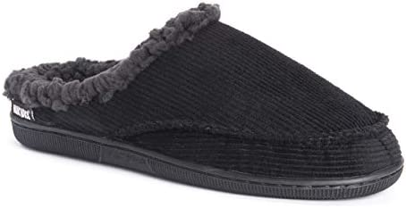 MUK LUKS Men s Corduroy Clogs Slipper Black Large 12 13 M US product image