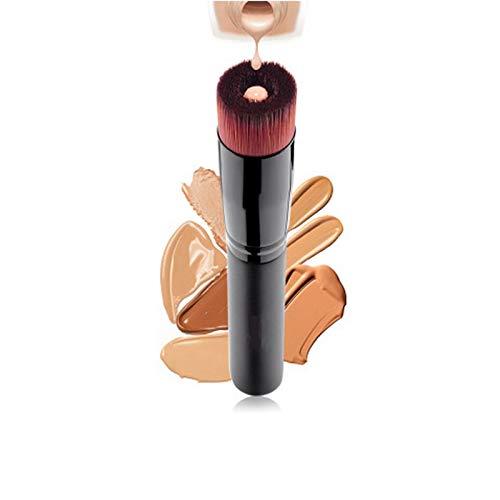 Cwenjing 1 pinceau liquide pour fond de teint, poils droits, pinceau de maquillage multifonctionnel, de forme spéciale Idéal pour cadeau (Couleur : Noir)
