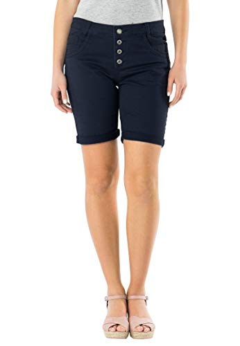 Urban Surface Damen Stoff Bermuda Shorts aus Stretch-Twill Dark-Blue M