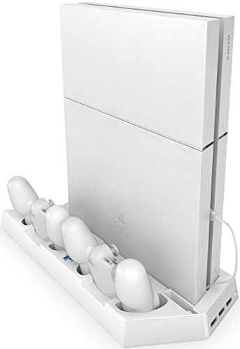 Ortz PS4 Vertical Stand with Cooling Fan [LIMITED EDITION -White]
