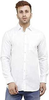 ZAKOD Plain Men's Wear Cotton Shirts for Casual Wear Purpose,Normal Wear Shirts,Available Sizes M=38,L=40,XL=42,100% Pure Cotton Shirts,6 Colors Available