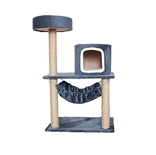 Cat Tree Cat House Cat Condo con Sisal Rasguño Posts Perspulaciones Perch Cat Town Muebles Cat Bed Activity Center Kitten Play House Casa Multifuncional Gato Apartamento