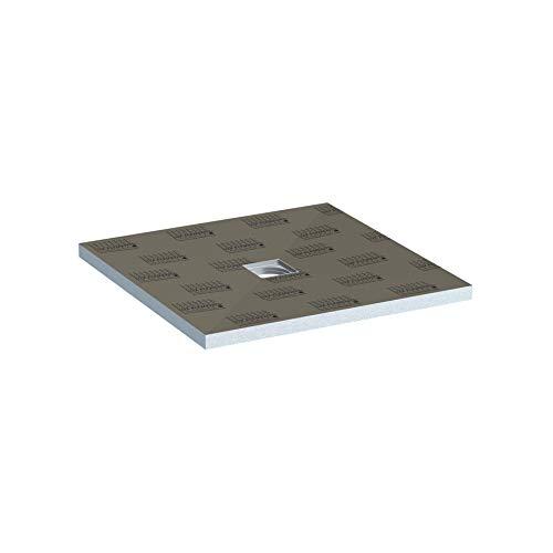 LUX ELEMENTS abgedichteter Duschboden Fertig zum Verfliesen, TUB-MQ 900 LTUBE10101, Grau, 90 x 90 cm