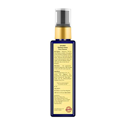 Blue Nectar Ayurvedic Honey and Aloevera Face Wash and Makeup Remover | Daily Facial Cleanser for Women and Men | For All Skin Types | 100 ml