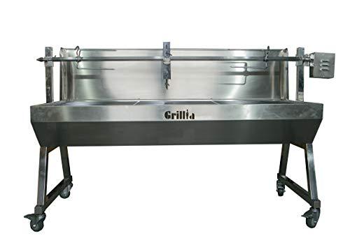 31wxqhCaWzL - Grillia Heavy Duty 1500 Holzkohle Rotisserie Grillspieß mit Wandschutz