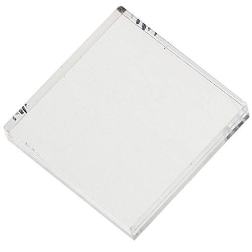 SDENSHI Herramienta de Estampado de Bloques de Sello de Bloque de Acrílico Transparente Cuadrado para Manualidades de Bricolaje 5x5cm