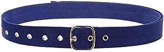 SGJFZD New Velvet Cloth Widened Girdle Ladies Fashionable Long Belt Soft Velvet Belt (Color : Blue)