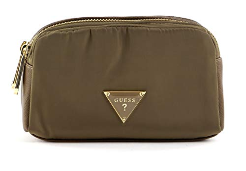 Guess Did I Say 90s? Double Zip Cosmetic Bag Military