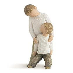 Sentiment: Forging a bond that lasts a lifetime written on enclosure card 5 Inch hand-painted resin figure; ready to display on a shelf, table or mantel; to clean, dust with soft brush or cloth. Avoid water or cleaning solvents. Child figures work we...
