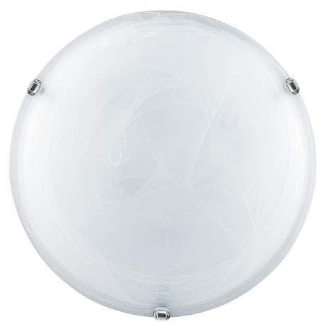 E-Led Plafón E27 Max 57 W compatible LED de cristal alabastro y...