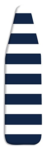 Whitmor Standard Scorch Resistant Navy Stripe Ironing Board Cover and Pad 54quot x 15quot