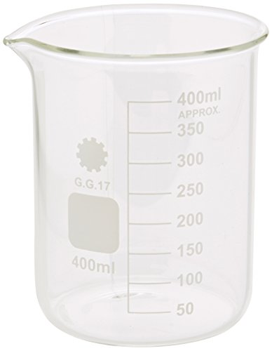 Ajax Wetenschappelijke GL010-0400 Borosilicaat Glas Gegradueerde Beker, 400 mL