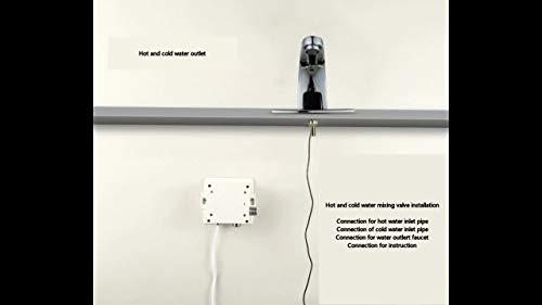 XWJSKJ grifos de Cocina Baño automática Sensor Inteligente Cuenca LED Grifo Cascada Grifo de Lavabo del Grifo Grifo (Surface Finishing : Chrome)