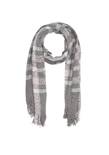 s.Oliver Damen 38.899.91.5800 Schal, Rosa (Purple/Pink Check 42n1), One Size (Herstellergröße: 1)