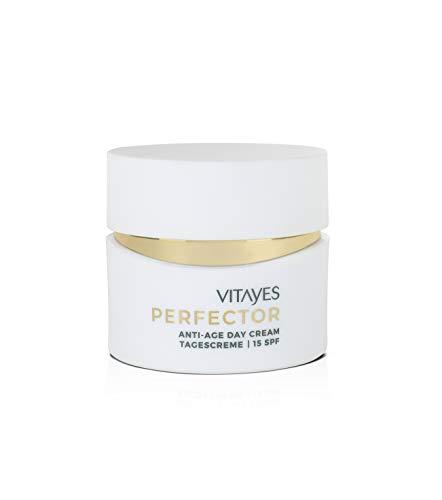 Tagescreme, Gesichtscreme mit LSF 15 SPF, Vitayes, Perfector, 24-Stunden Feuchtigkeit, Intensive Pflege für das Gesicht mit Anti Aging Effekt