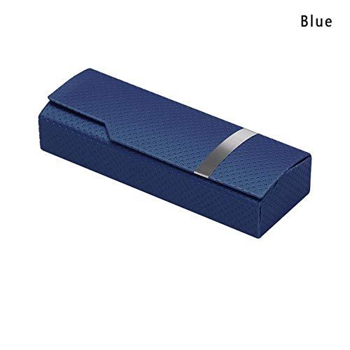 Boner 1PCS Unisex draagbare glazen doos Mode rechthoek leesbrillen Zonnebrillen beschermhoes Brillenbeschermer, blauw