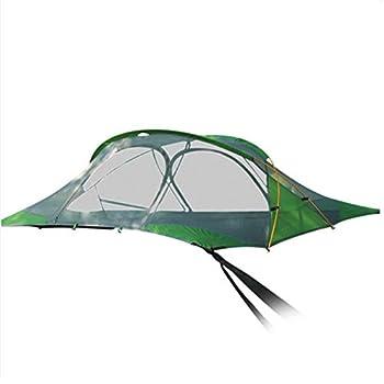 WOTR Tente Suspendue Tente Imperméable, Suspendue Hammock Tente 3 Personne Camping Hamac avec moustiquaire et Mouche de Pluie, abri Parfait pour la Jungle et la Plage de Camping Aventure
