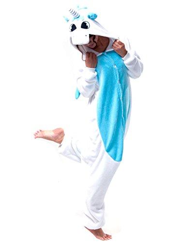 Pyjamas Licorne Adulte Unisexe Kiguruma Unicorn Cosplay Animaux Nuit de vêtement,Bleu,L(hauteur...