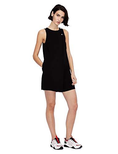 Armani Exchange Womens Fluid Jumpsuit, Black, 6
