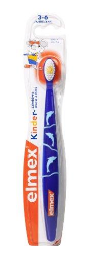 elmex Kinder Zahnbürste, 3-6 Jahre, weich, sortiert, 2er Pack (2 x 1 Stück)