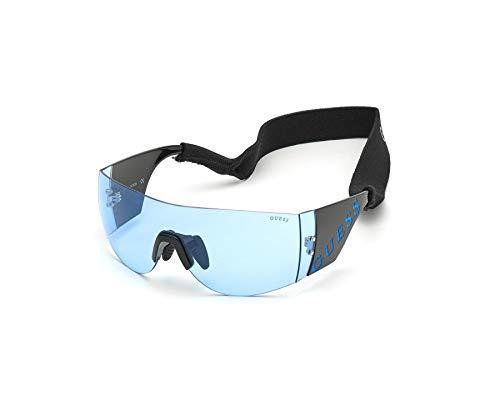 Guess GU-7662-S 01V - Gafas de Sol, Color Negro Brillante