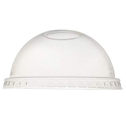 Compostable PLA Lid, Dome Shaped, Clear, 1000 Pack
