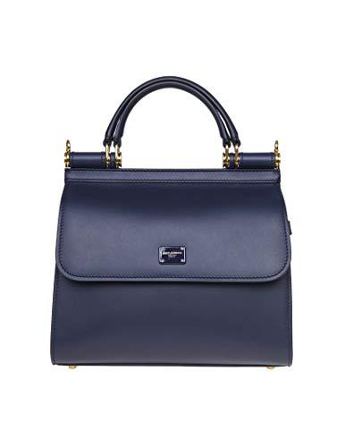 Luxury Fashion   Dolce E Gabbana Donna BB6622AV38587741 Blu Borsa A Mano   Autunno Inverno 19