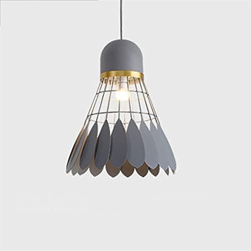 YAN FEI Accesorio de iluminación Araña de bádminton, Creativo Hierro Forjado iluminación Decorativa, Bar Tabla de la Barra de la lámpara (Color : Gray, Size : L)