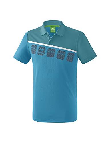 Erima GmbH 1111910 Polo de Tenis, Unisex niños, Oriental Blue/Colonial Blue/Blanco, 164