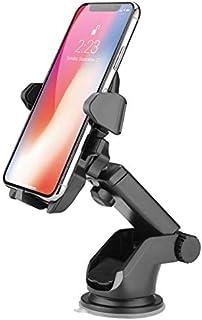VEECEE Telefoonhouder auto, autohouder, universele voorruithouder voor mobiele telefoon met extra dashboard en dubbele ste...