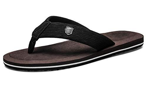 Gaatpot Chanclas para Adulto Mujeres Hombres Verano Flip-Flop Sandalias Planas Zapatos de Playa y Piscina Braun 42EU=43CN