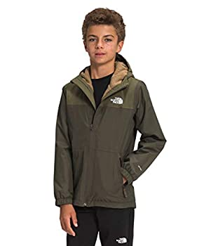 The North Face Boys Warm Storm Rain Jacket New Taupe Green M
