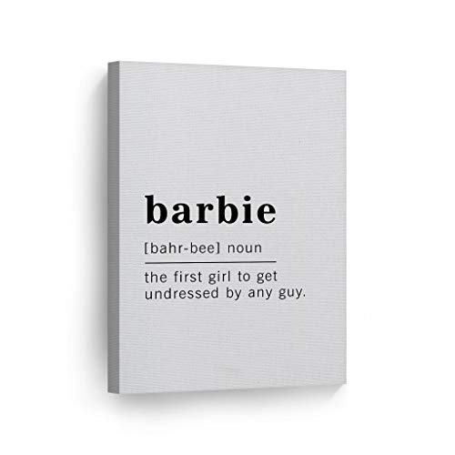 Scott397House Unframe Canvas Printing Wall Art Funny Noun Dictionary Definition of Barbie Canvas Print Inspirational Quote Sign Office Living Room Bedroom Bathroom Wall Decor 20x25 cm