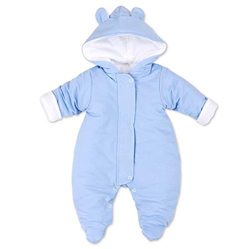 Artex Baby Winter Overall Jungen | Farbe: blau | Winter Anzug mit Kapuze für Neugeborene & Kleinkinder | Größe: 1 Monat (56)