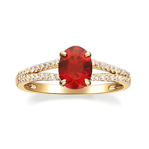 Gin & Grace 14K oro blanco natural del diamante y ópalo de fuego del diamante (I1, I2) Proponer la promesa de compromiso anillo para las mujeres