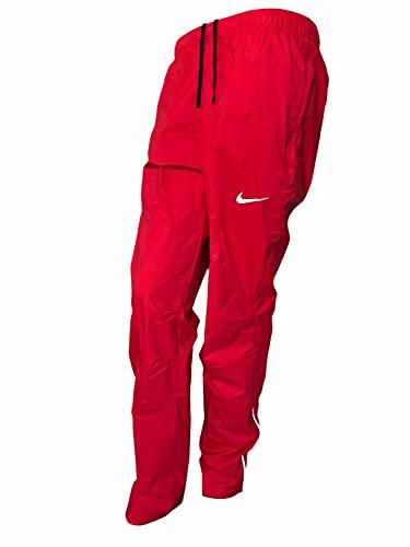 Nike Sportswear Nylon Women's Training Running Pants Weather-Resistant Athletic, Red, Medium