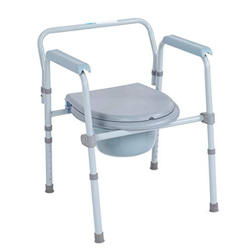 Z-SEAT Bariatrischer Toilettensitz Edelstahl-Toilettenstuhl Nachttische mit Einstellbarer Höhe und extra breitem ergonomischem Sitz Geeignet für ältere Menschen/Schwangere/Behind