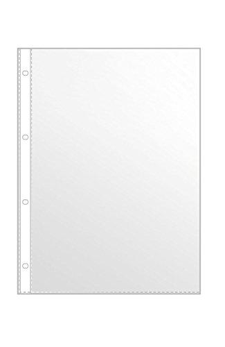 Veloflex 4345000 Prospekthüllen A4, Klarsichthüllen, Klarsichtfolien, PP-Folie, 4-fach Lochung, 100 Stück