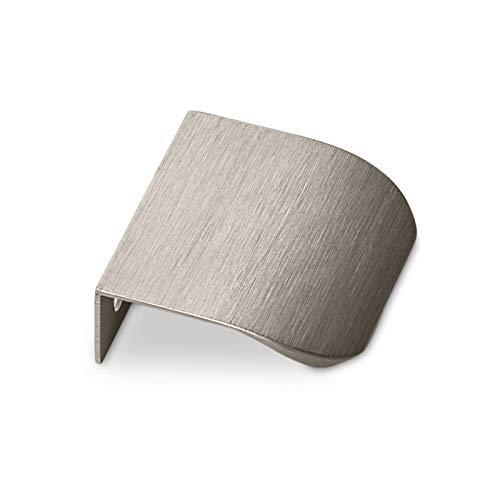 5 x Möbelgriff BLANKETT round 50 mm Edelstahloptik gebürstet Hinterschraubgriffe Griffleisten Schrankgriffe Küchengriffe von SO-TECH®