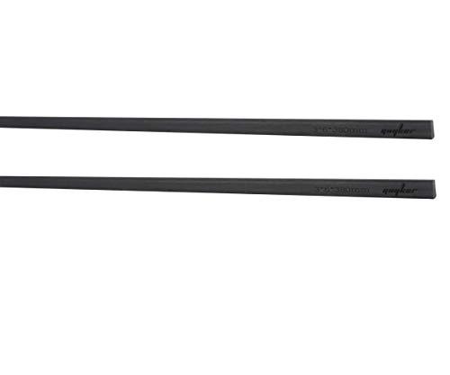 Guyker 2pcs Carbon Fiber Neck Rod 3 x 6 x 380mm - Guitar Neck Stiffener for Strings Instruments