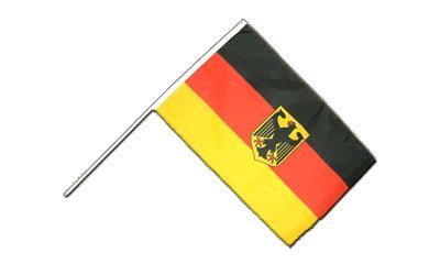 Flaggenfritze® Große Stockflagge Schwenkflagge Deutschland Adler 60 x 90 cm