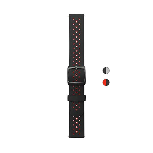 Withings Bracelets Silicone Bicolore Noir 40mm, Steel HR Sport Mixte Adulte, Boucle, 20mm