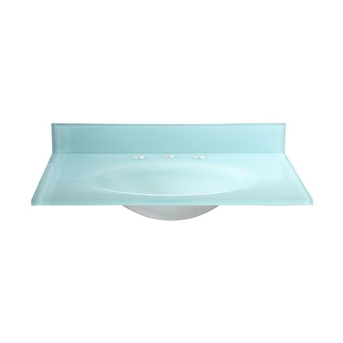 Check Price Pegasus PBI49W 49 Inch Tempered Glass Vanity Top with