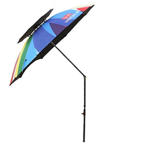 Zixin Parasol de Playa portátil con Salida de Aire del Sol Refugio, Protección UV 50+ Patio de Pesca Piscina (Arco Iris) (Color: 240 cm (8 pies)) Color : 220cm(7.2ft)