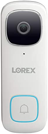 Lorex 2K QHD Wi-Fi Video Doorbell Outdoor Security Camera | Person Detection & Color Night Vision | Ultra-Wide Angle Lens & Two-Way Talk | Incl. 32GB MicroSD Card [Requires existing doorbell Wiring]
