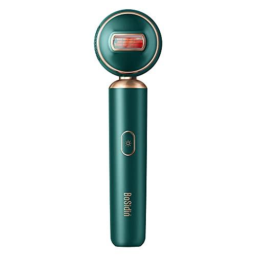 BoSidin IPL Geräte Haarentfernung Doppelpuls Leichter Laser Haarentferner zu Hause für Damen Männer mit Hautverjüngungsfunktion(Grün)