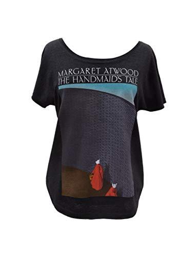 Camiseta de manga morcego feminina com tema literário de livro com estampa Out of Print, The Handmaid's Tale, X-Small