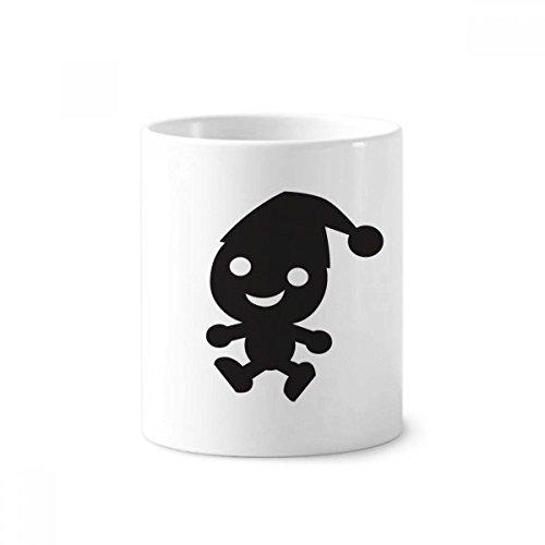 DIYthinker Hoed Happy Fear Halloween Keramische Tandenborstel Pen Houder Mok Wit Cup 350ml Gift 9,6 cm hoog x 8,2 cm diameter